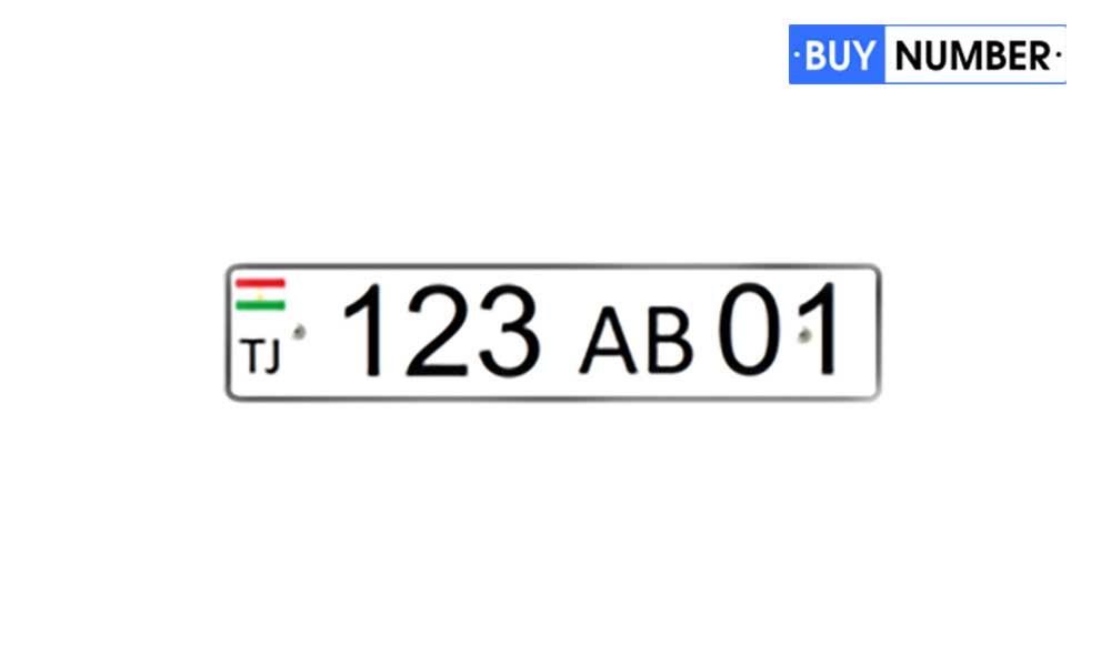 Дубликат гос номера Таджикистана для автомобиля юр лиц