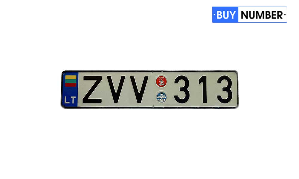 Дубликаты гос номеров Литвы на авто старого образца