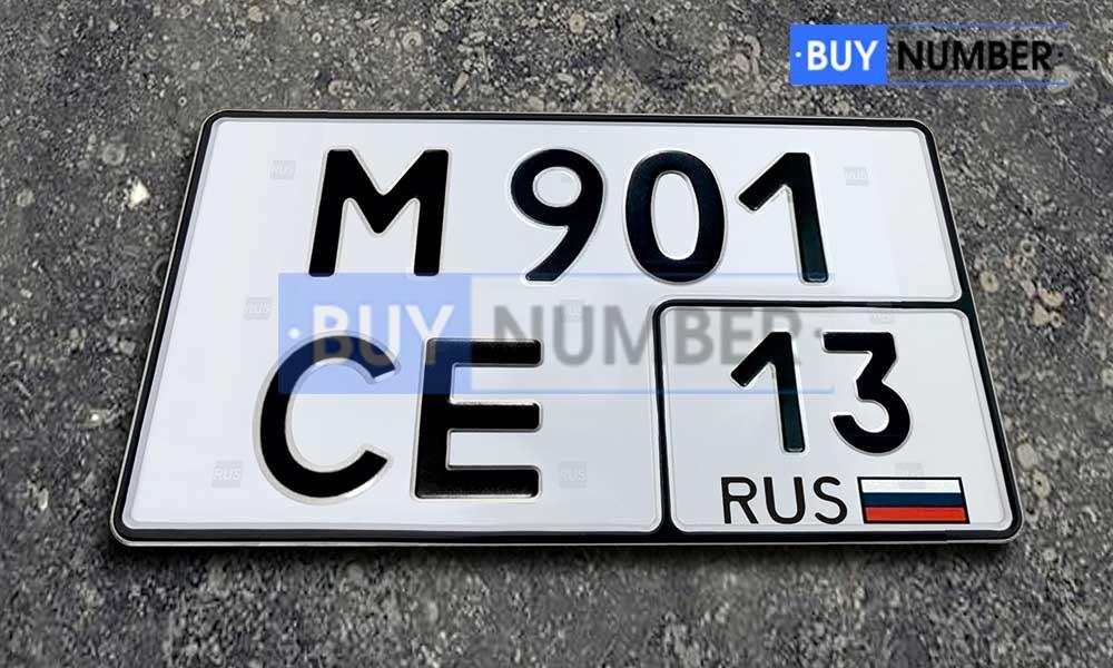 Квадратный номер нового образца на автомобиль - новый ГОСТ 13 региона