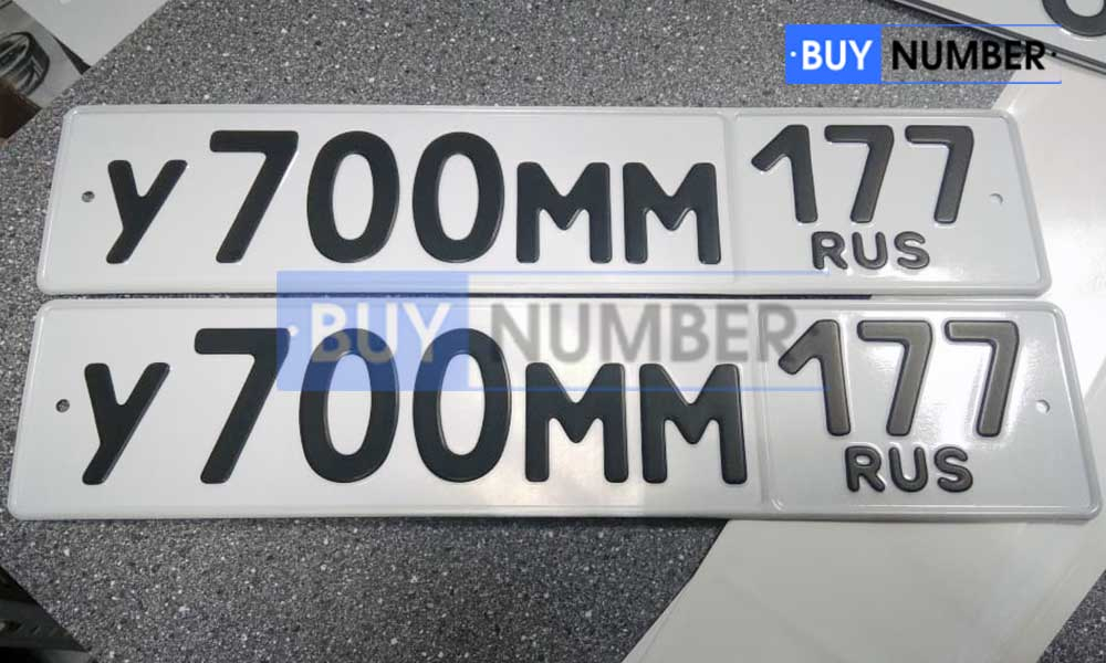 Гос номер жирным шрифтом без окантовки (канта) и без флага на авто