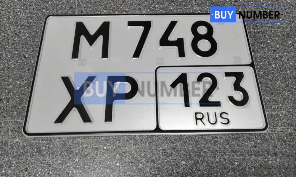 Дубликат гос номера нового образца Россия - 23 региона