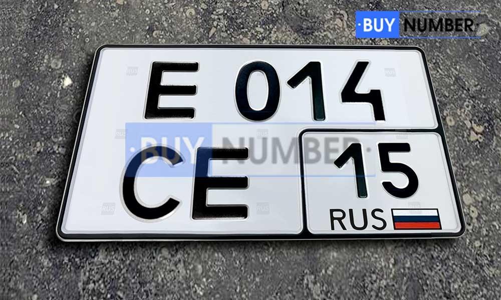 Квадратный номер нового образца на автомобиль - новый ГОСТ 15 региона