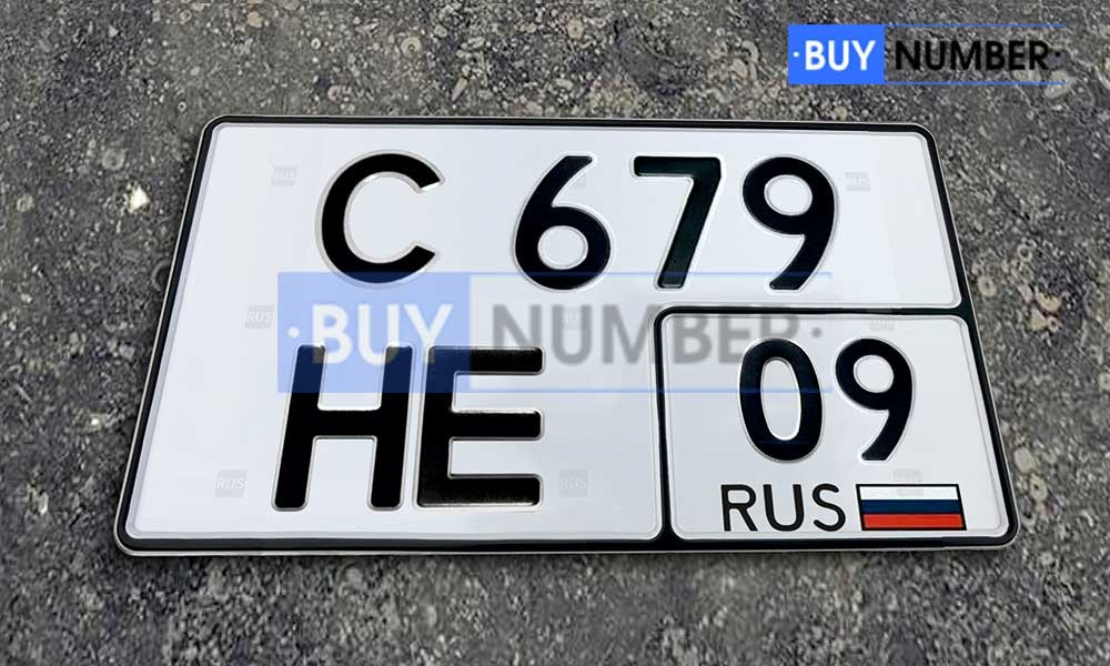 Квадратный номер нового образца на автомобиль - новый ГОСТ 09 региона