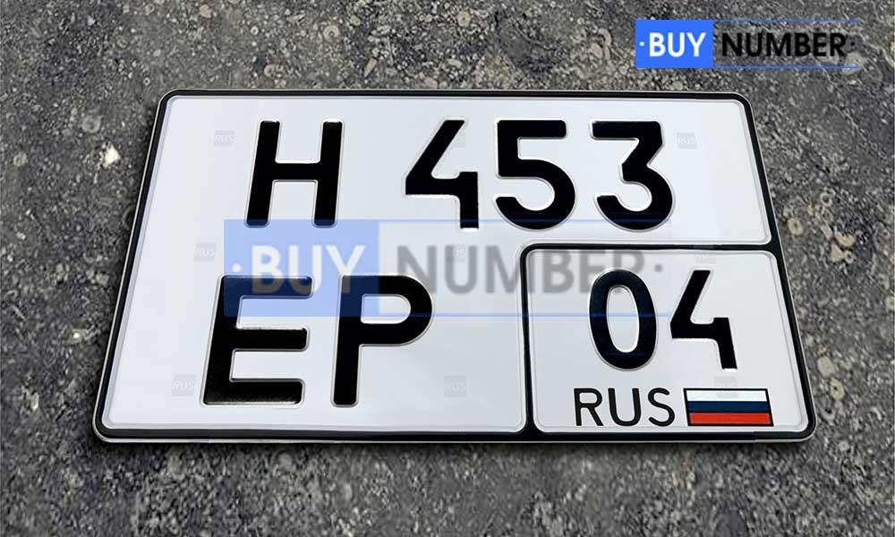 Квадратный номер нового образца на автомобиль - новый ГОСТ 04 региона