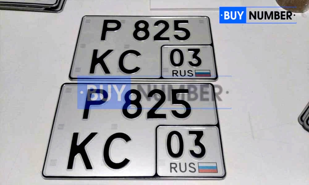 Квадратный номер нового образца на автомобиль - новый ГОСТ 03 региона