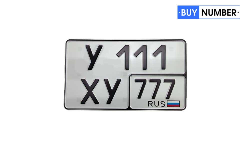 Дубликаты квадратных номеров жирным шрифтом на авто - 12 региона
