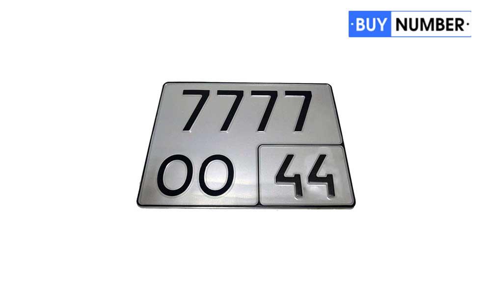 Дубликат номера на квадроцикл старого образца
