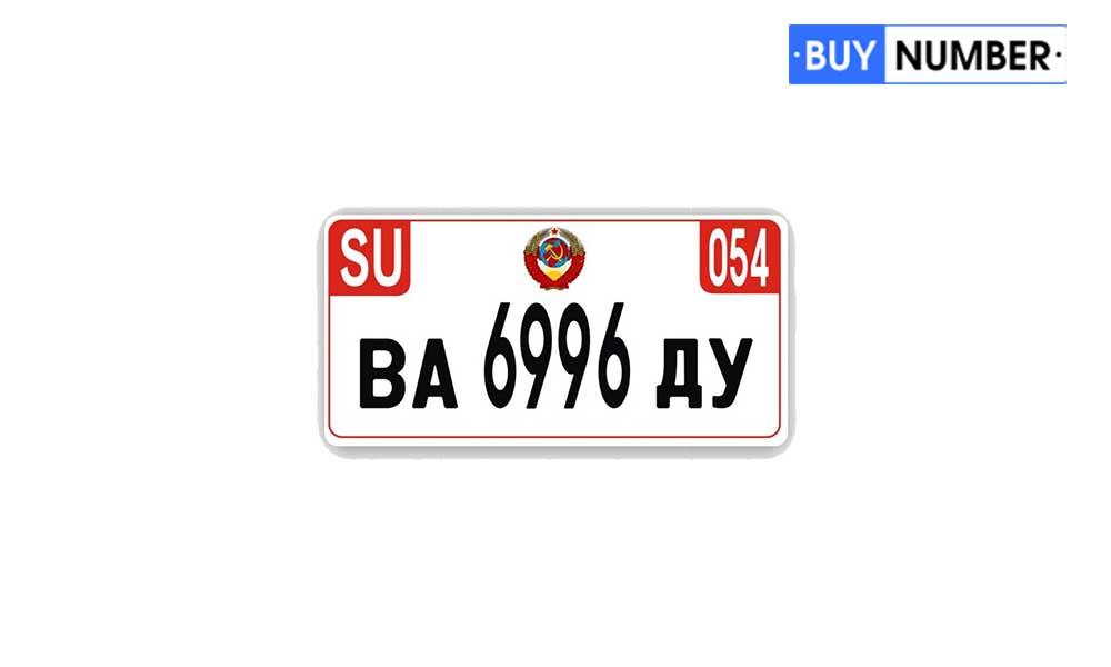 Квадратные дубликаты советских номеров нового образца на авто
