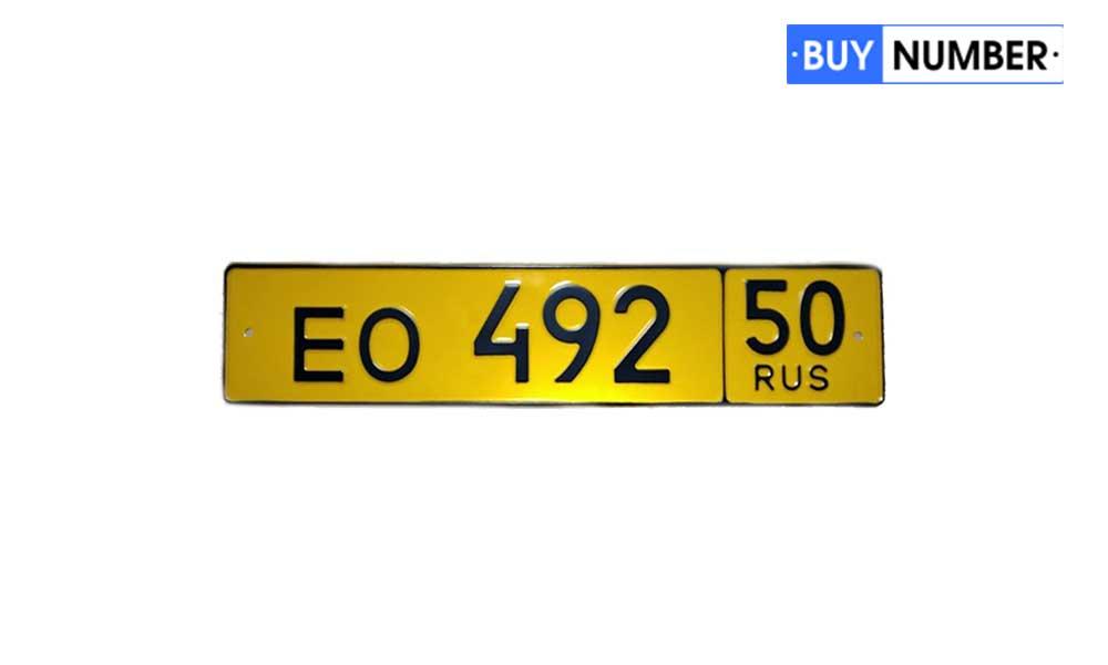 Дубликат автономера России на маршрутные такси (более 8 мест)