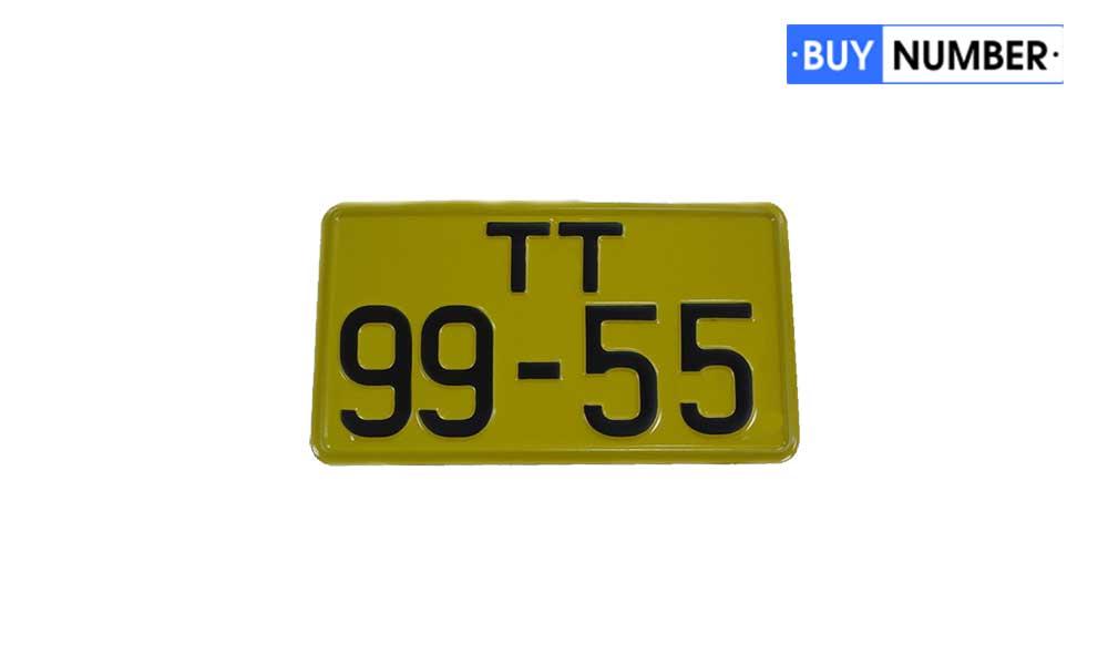 Дубликаты желтых послевоенных квадратных номерных знаков на автобусы