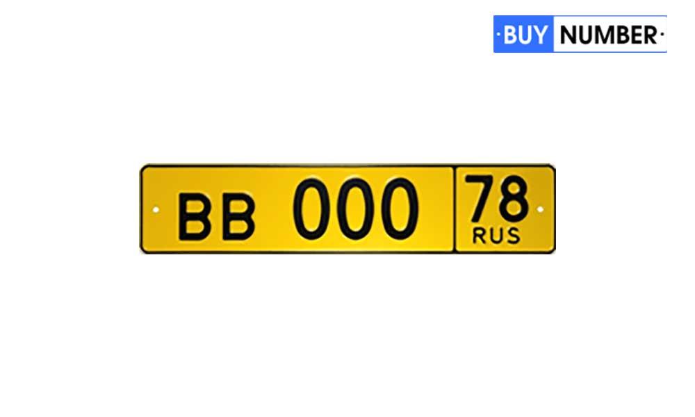 Вид дубликатов номерных знаков для автобуса без флага
